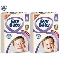 Evy Baby Dev Beden:5 (11-25Kg) Junior 80 Adet 2 Li Set (2Pk*40) Bebek Bezi