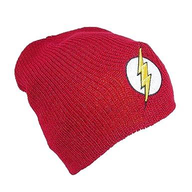 8c061e32f4f DC Comics Flash Reversible Slouch Beanie Hat  Amazon.co.uk  Clothing