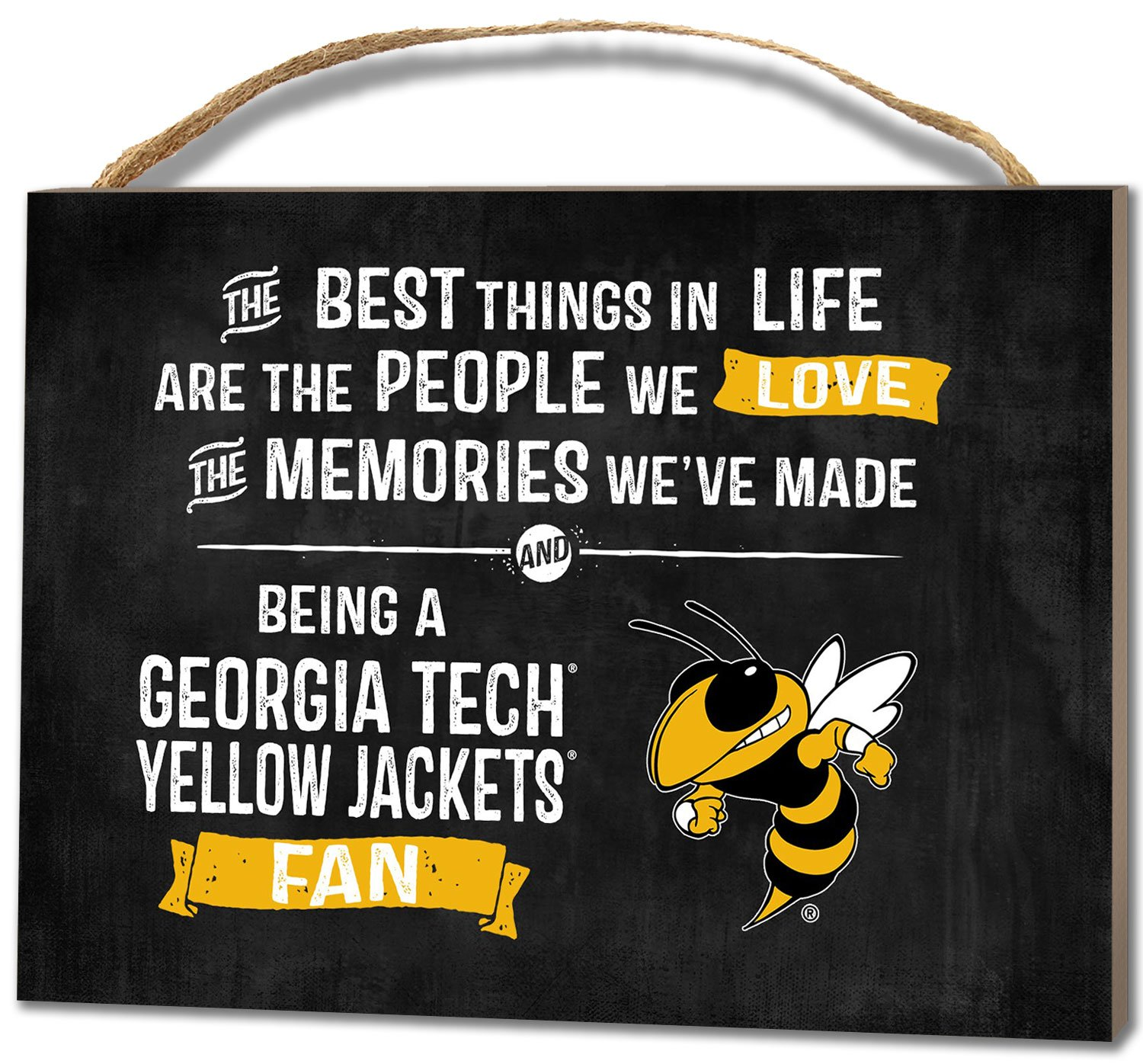 KH Sports Fan 4''X5.5'' Georgia Tech Yellow Jackets Best Things Small College Plaque
