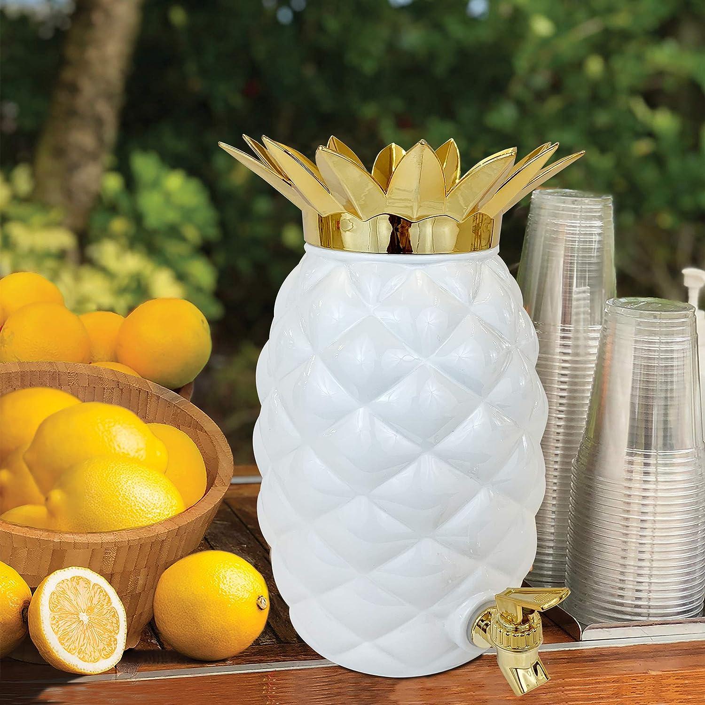 Hawaiian Luau Tropical Party Supplies Decoration Island Genius Plastic Glam Pineapple Drink Dispenser