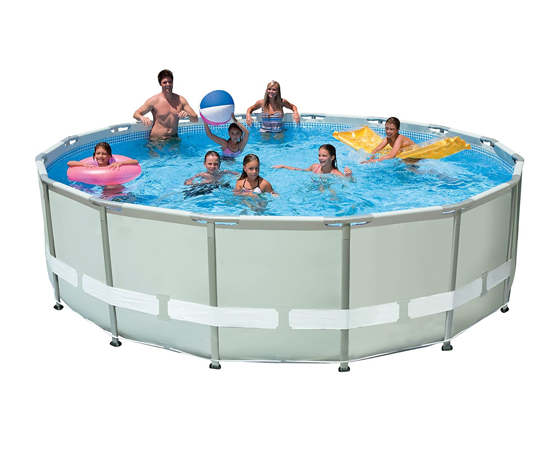 Amazon.com: Intex 16-Feet by 48-Inch Ultra Frame Metal Frame Pool ...
