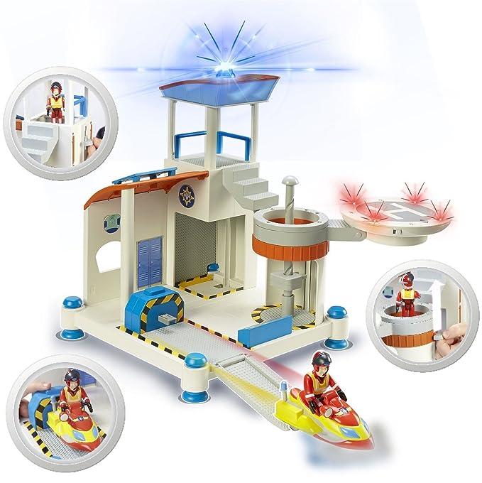 Amazon.com: Fireman Sam – Bundle Deluxe Fire Station Playset ...