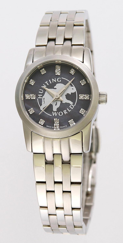[ハンティングワールド]HUNTING WORLD 腕時計 フェアリーダイヤモンド ブラックシェル16Pダイヤモンドダイアル レディースサイズ [並行輸入品]