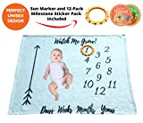 Baby Monthly Milestone Blanket Girl/Boy & Month
