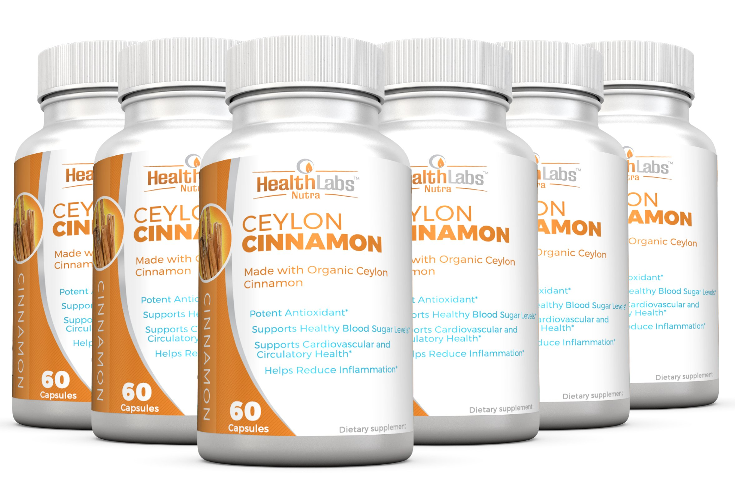 Organic Ceylon Cinnamon (6-Month Supply) – Blood Sugar Support, Reduce Inflammation and May Promote Natural Weight Loss