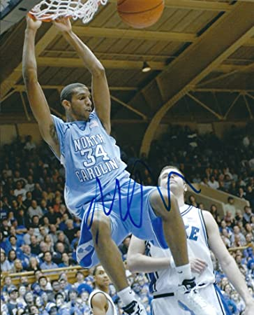 TYLER HANSBROUGH Signed SLAM 8x10 Photo UNC North Carolina Basketball Auto COA