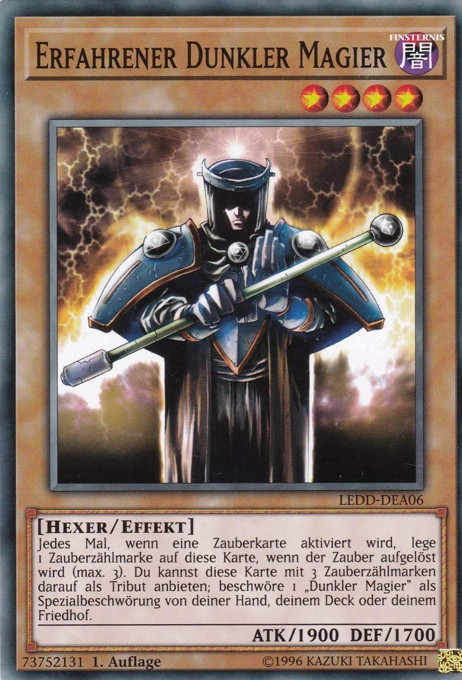 Yu-Gi-Oh! LEDD-DEA06 Common Konami TCG Erfahrener Dunkler Magier mit GECO/® Versandschutz