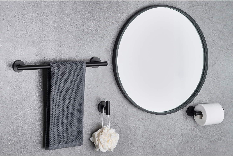 Modern Style Toilet Roll Holder X Home Black Towel Holder and Toilet Roll Holder Include 40CM Bathroom Towel Rail 4-Piece Black Towel Holder Set Durable SUS304 Stainless Steel Towel Hooks