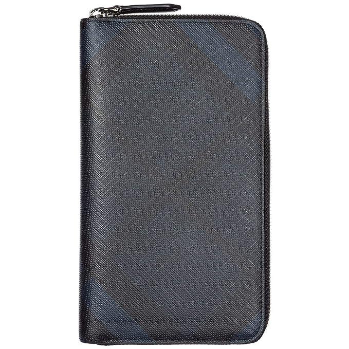 Burberry cartera billetera bifold de hombre nuevo Renfrew blu: Amazon.es: Ropa y accesorios