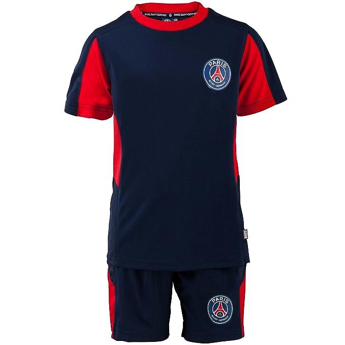 Paris Saint Germain Short + Camiseta Talla de Niño, Azul, 4 años: Amazon.es: Ropa y accesorios