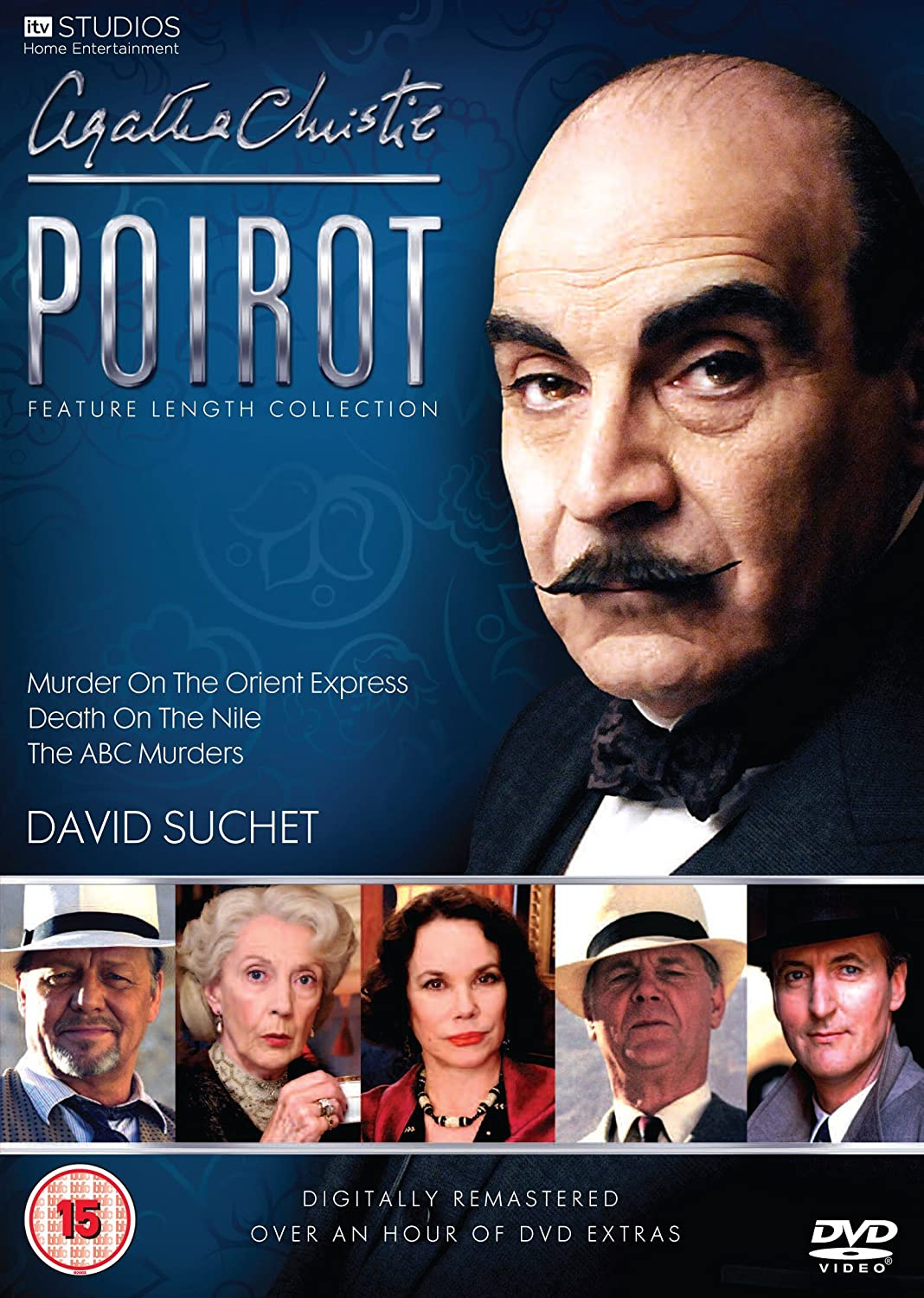 Agatha christie s poirot feature length collection digitally re mastered dvd amazon co uk david suchet dvd blu ray