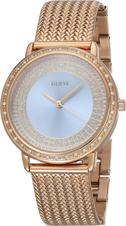 Guess - Reloj Willow w0836l1 Mujer Azul Acero Chapado Oro Rosa