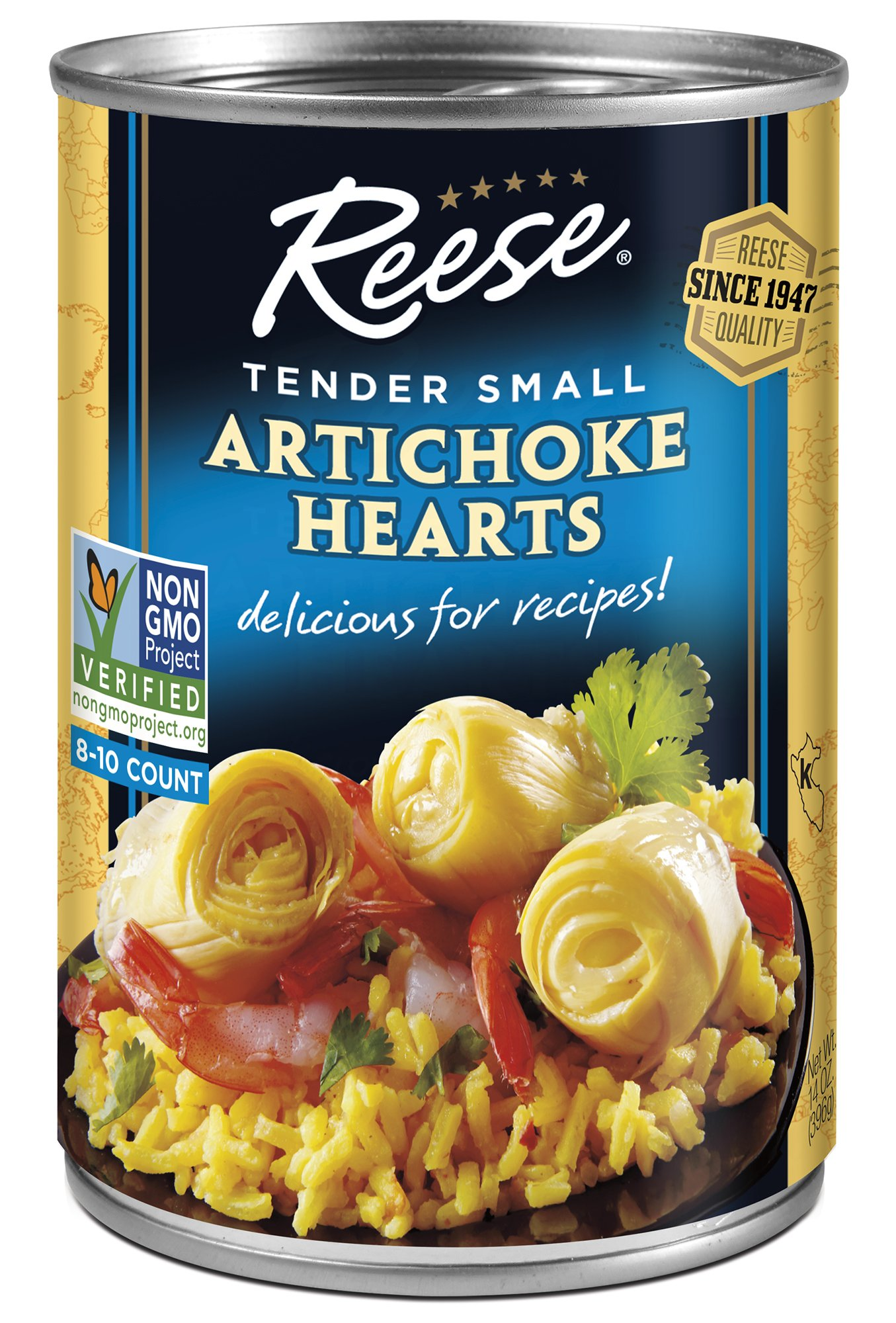 Reese Artichoke Hearts, Small Size, 14-Ounce Cans (Pack of 12)