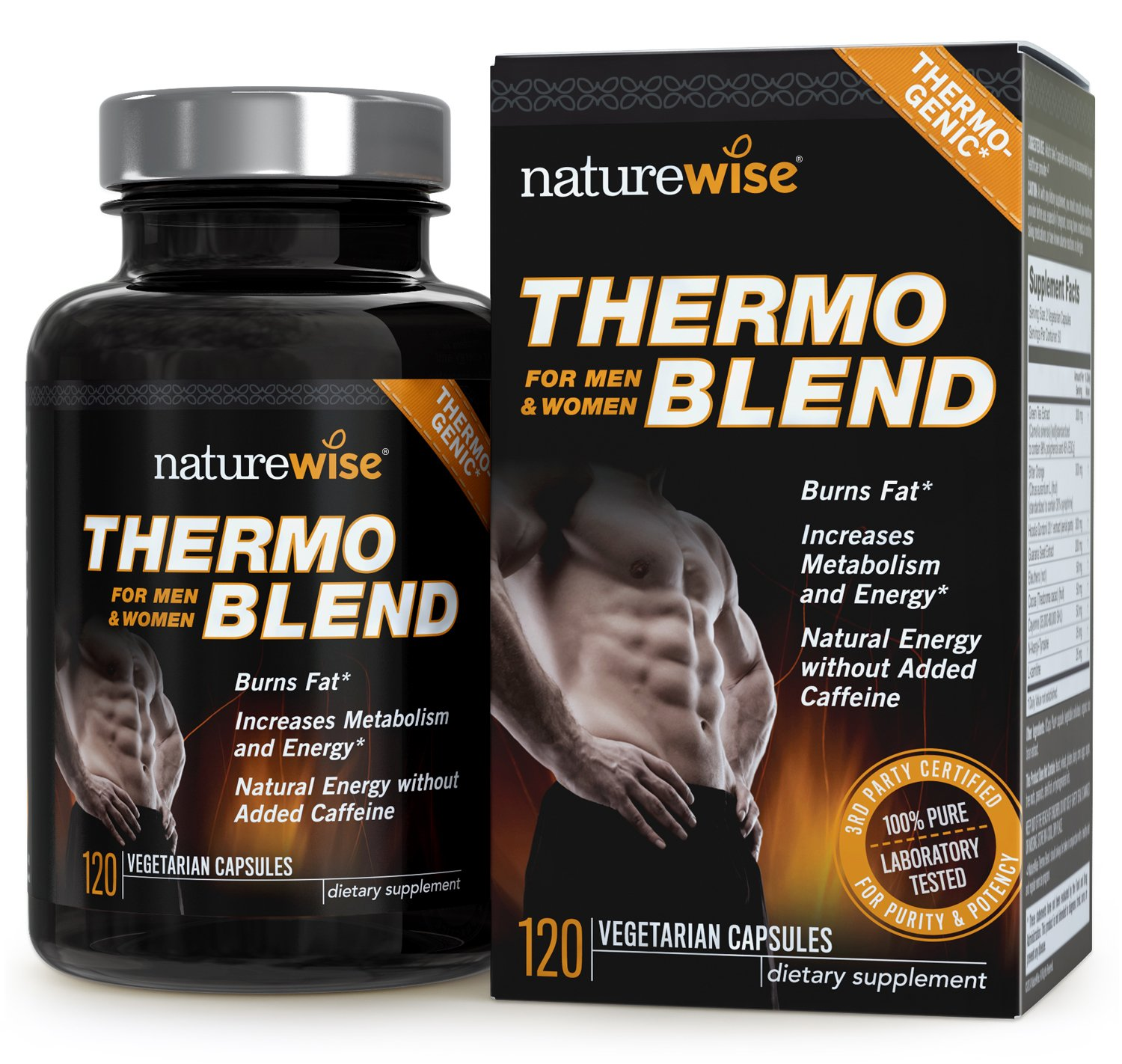 NatureWise Thermo Blend Advanced Formula Thermogenic Fat Burner for Weight Loss and Natural Energy, 2-month supply, 120 count