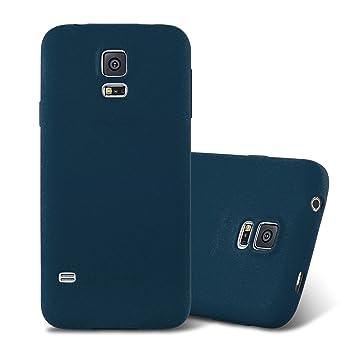 Cadorabo Funda para Samsung Galaxy S5 / S5 Neo en Frost Azul Oscuro - Cubierta Proteccíon de Silicona TPU Delgada e Flexible con Antichoque - Gel Case ...