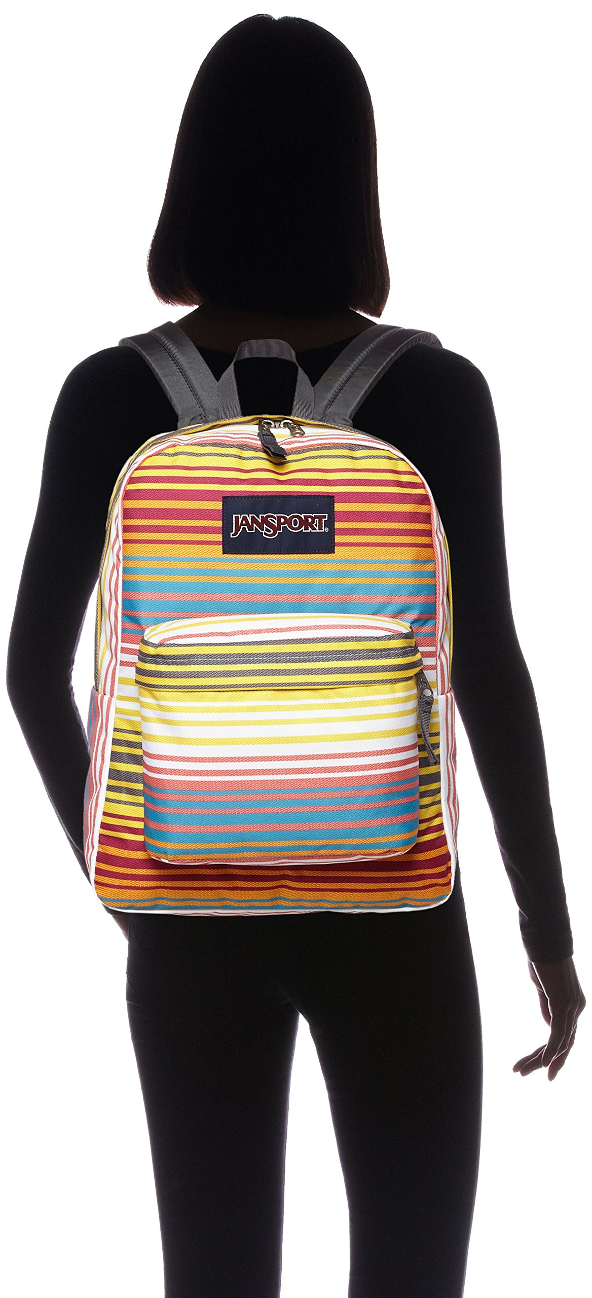JanSport Classic SuperBreak Backpack, Multi Sunset Stripe by JanSport (Image #4)