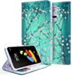 LG Stylo 2 Case, LG Stylo 2 V Case, NageBee [Kickstand Feature] Premium PU Leather Flip Fold Wallet Case with [ID&Credit Card Slot] for LG G Stylo 2 / LG Stylo 2 V(Verizon) - Plum Blossom