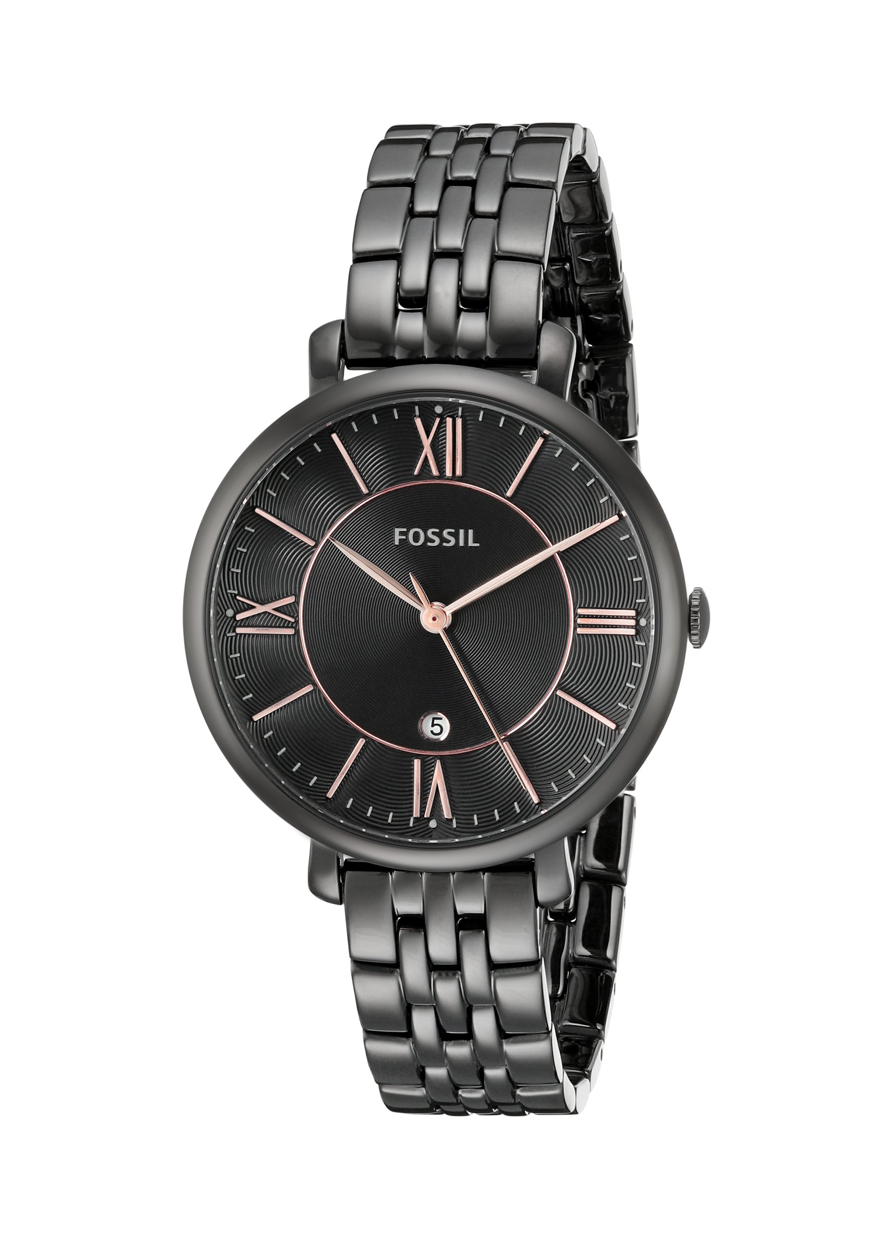 Fossil Women's ES3614 Jacqueline Black Stainless Steel Watch by Fossil