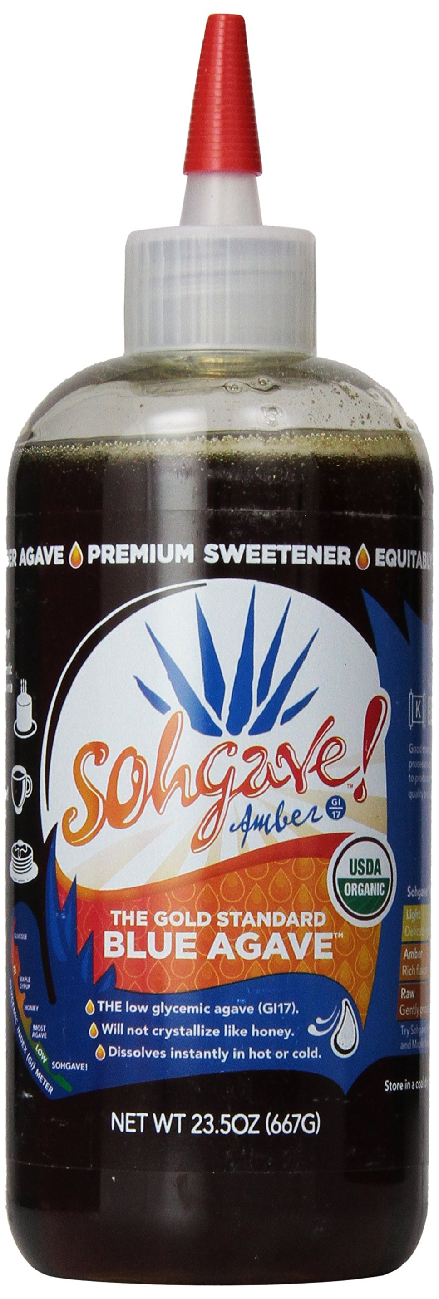 Sohgave! Premium Blue Agave, Amber, 23.5-Ounce Bottles (Pack of 6)