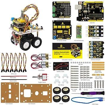 KEYESTUDIO Smart Auto DIY Kit Desktop schnurlos Bluetooth Smart Auto ...