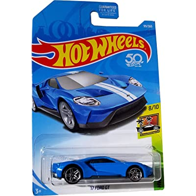Hot Wheels 2020 50th Anniversary HW Exotics '17 Ford GT 99/365, Blue: Toys & Games