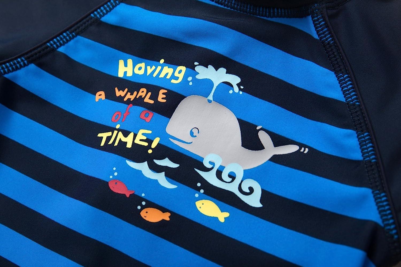 Sun Protection One Pieces Swimwear with Sun Hat BONVERANO Baby Boys Swimsuit//Sunsuit UPF 50