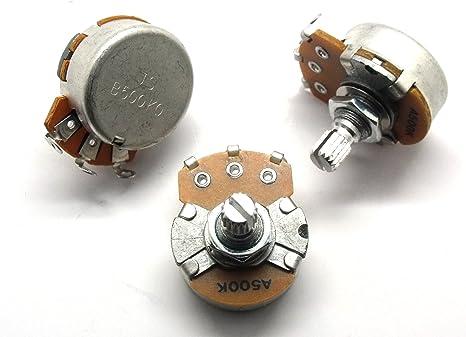 Set de Potenciómetros de guitarra Strat tono, tono, volumen 24 mm ...