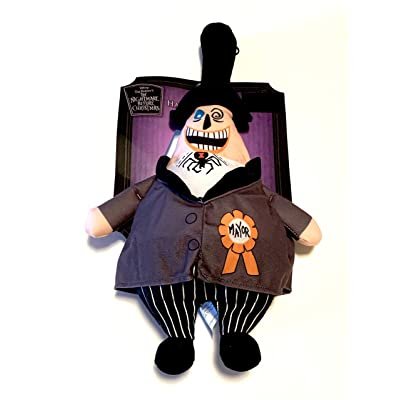 Tim Burton's 18 Inch The Nightmare Before Christmas The Mayor Hanging Plush - Two Faces: Home & Kitchen
