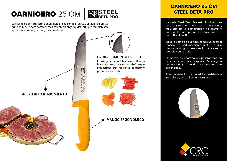 Cuchillo Carnicero Profesional 25 cm - Steel Βpro: Amazon.es ...