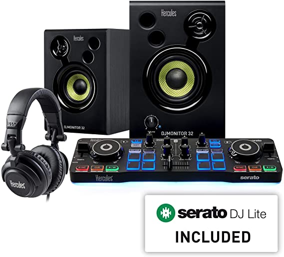 Hercules DJ Starter Kit | Starlight USB DJ Controller with Serato DJ Lite software