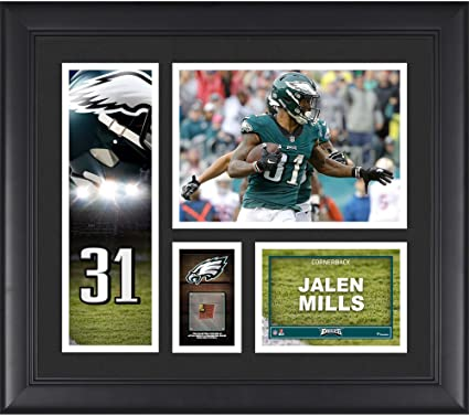 "3e20223d44d Jalen Mills Philadelphia Eagles Framed 15"" x 17"" Player Collage  with a Piece of"