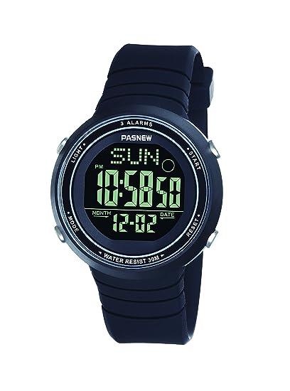 Pasnew-445G Reloj niña Mujer Reloj Deportivo Digital Reloj Alarma Luz Impermeable Cronómetro multifunción de Moda.: Amazon.es: Relojes