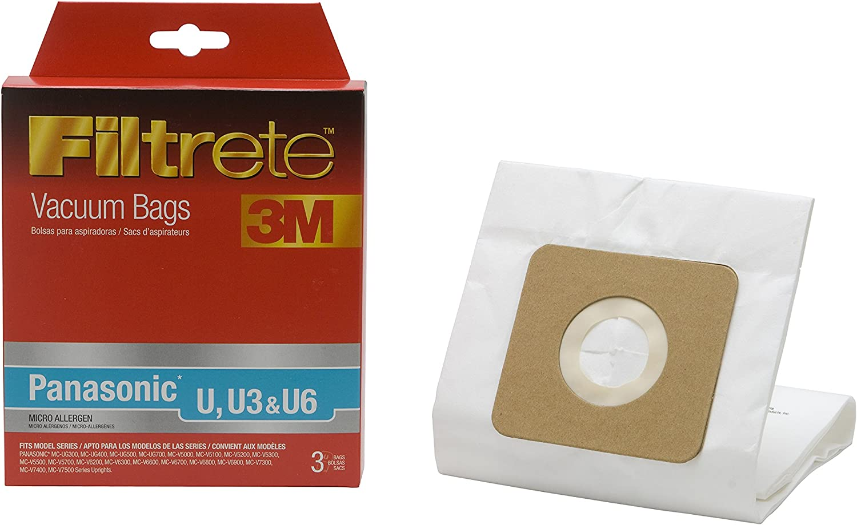 3M Filtrete Panasonic U, U3 & U6 Micro Allergen Vacuum Bag