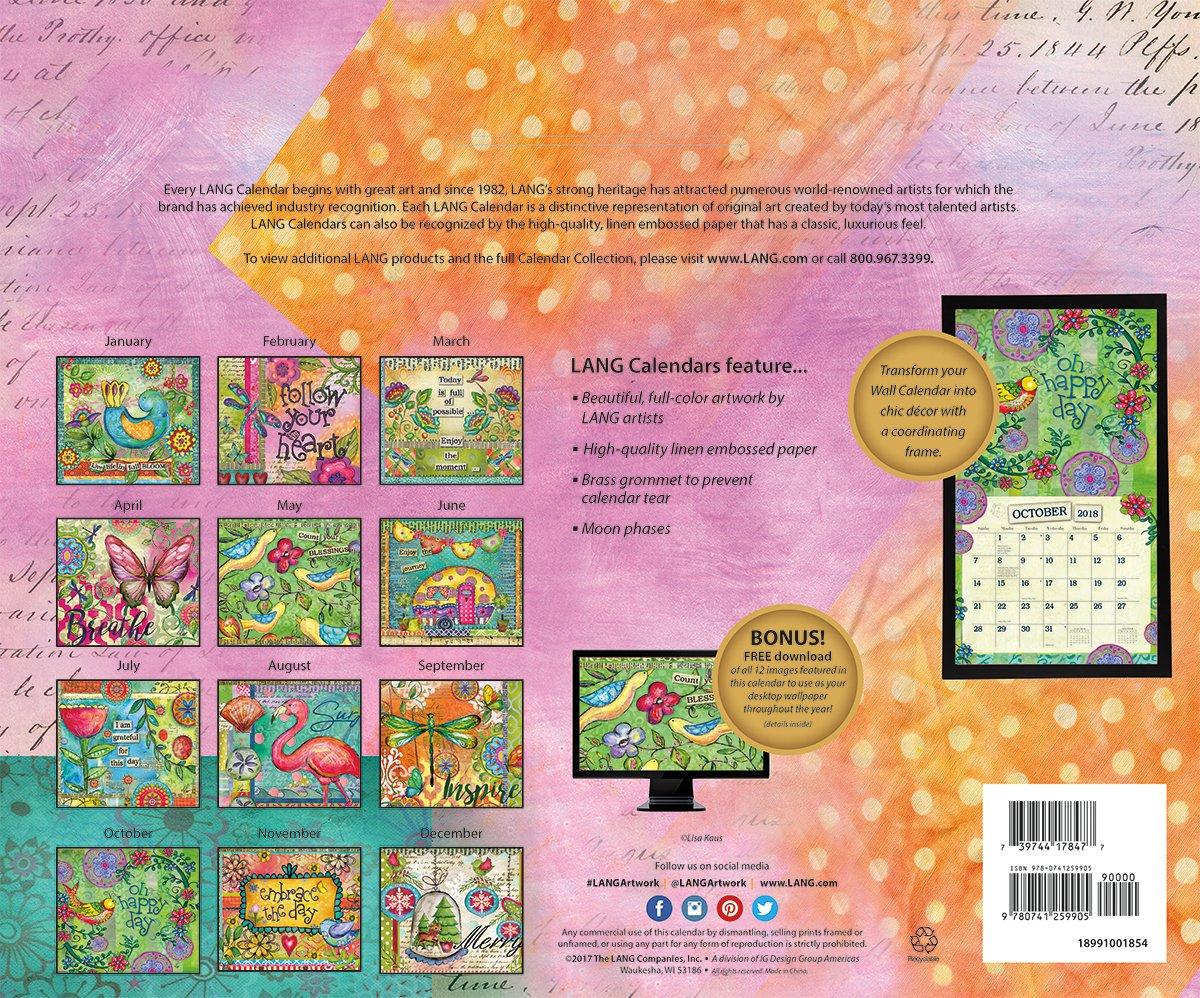 Amazon.com : LANG - 2018 Wall Calendar - \