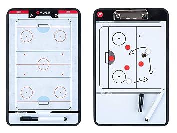 Pure2Improve Pizarra de Entrenamiento para Hockey sobre Hielo, 35 x 22 cm