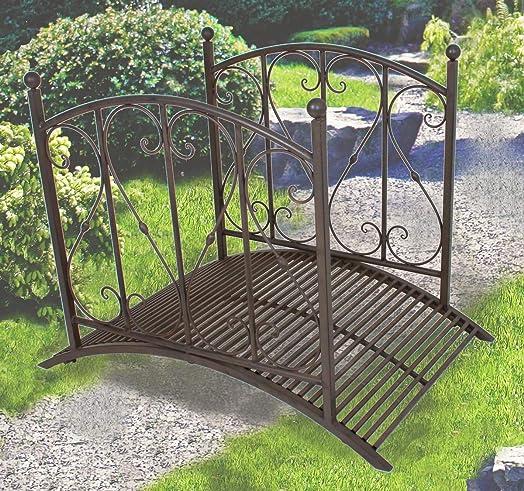 Metal Garden Bridge/Rails, Metal Work, Garden Ornament, Rust Finish