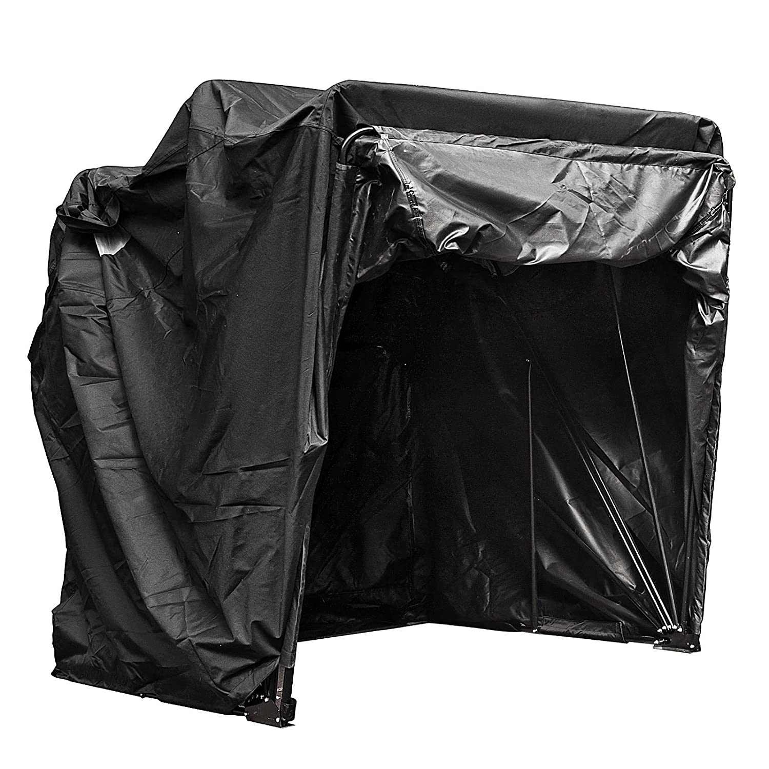 Happybuy Motorcycle Shelter Storage Waterproof Motorbike Storage Tent Oxford 600D Motorcycle Shelter Shed Fit Most Motorcycles Black