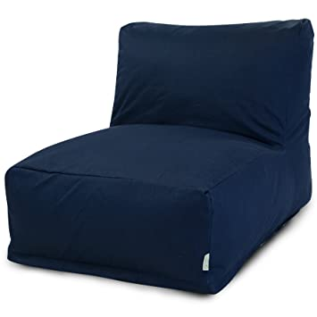 Majestic Home Goods Navy Blue Solid Bean Bag Chair Lounger