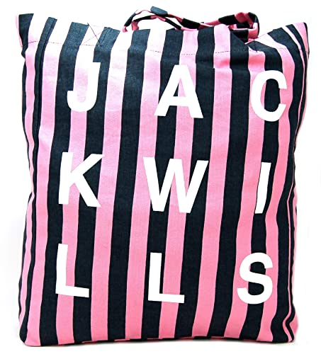 215907bc3 Jack Wills Ambleshire Book shopping Tote Bag in Navy & Pink Strip:  Amazon.co.uk: Shoes & Bags