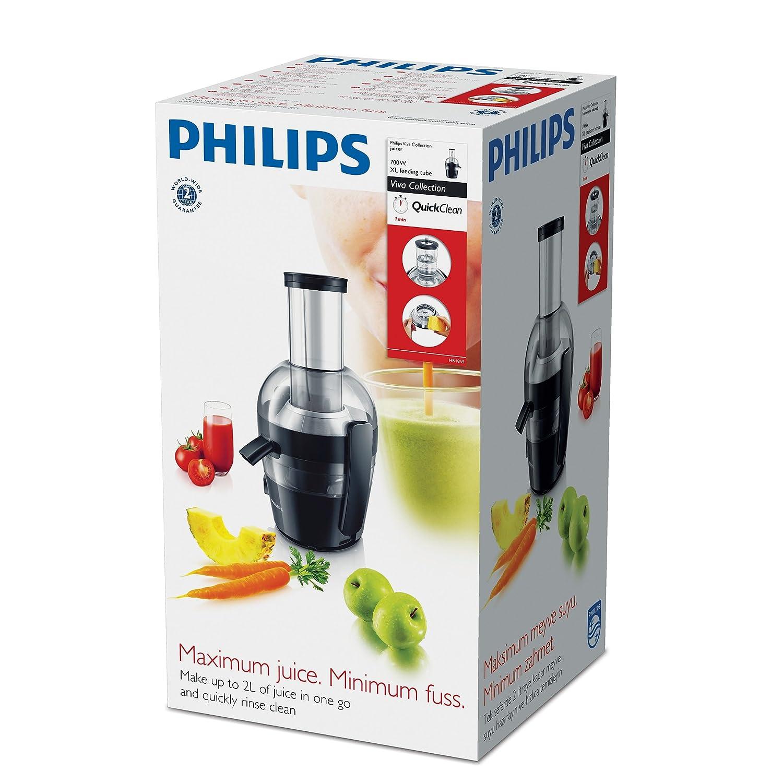 orificio extragrande Licuadora Viva Collection 700 W tecnolog/ía QuickClean Philips HR1855//00 2 litros