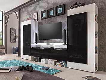 Wohnwand Mediawand Schrankwand Wohnzimmerschrank Anbauwand Wohnzimmer U0026quot; Style ...