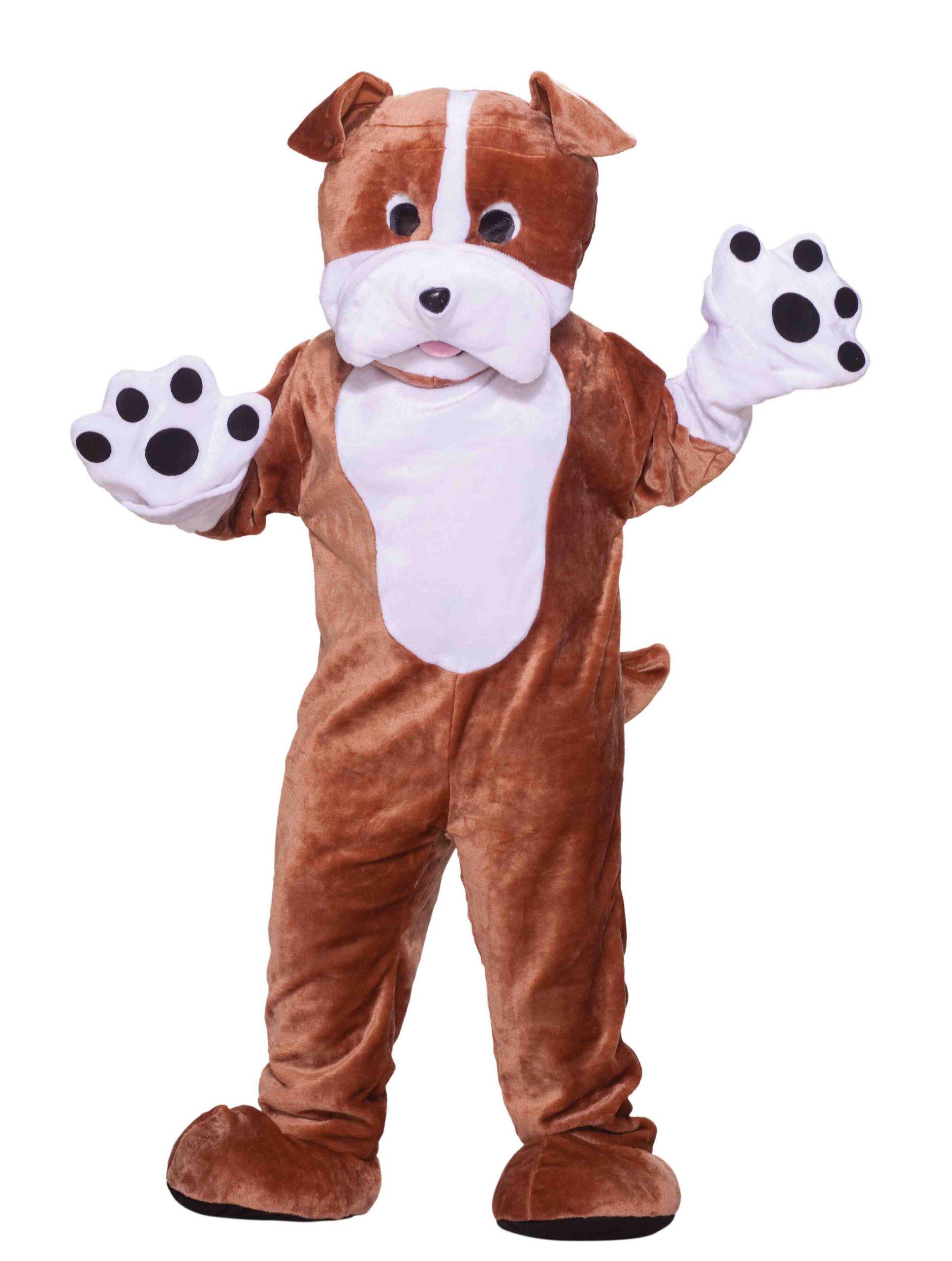 Forum Deluxe Plush Bulldog Mascot Costume, Brown, One Size