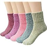 Ndier calcetines de lana de las mujeres coloridos calientes Set Blend calcetines de calcetines de tobillo