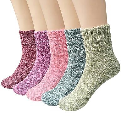 d09f093a34f Chaussettes en laine - Lot de 5 paires de chaussettes femme ...
