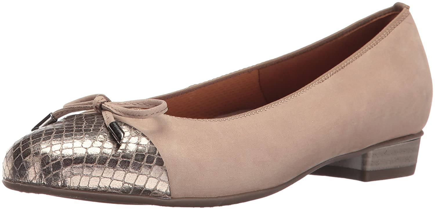 ara Women's Betty Dress Pump B01LS2N73A 9 B(M) US|Taupe/Vipera Combo