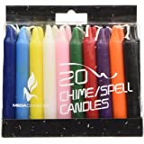 "Mega Candles - Unscented 4"" Mini Chime Ritual Spell Taper Candle - Set of 20"