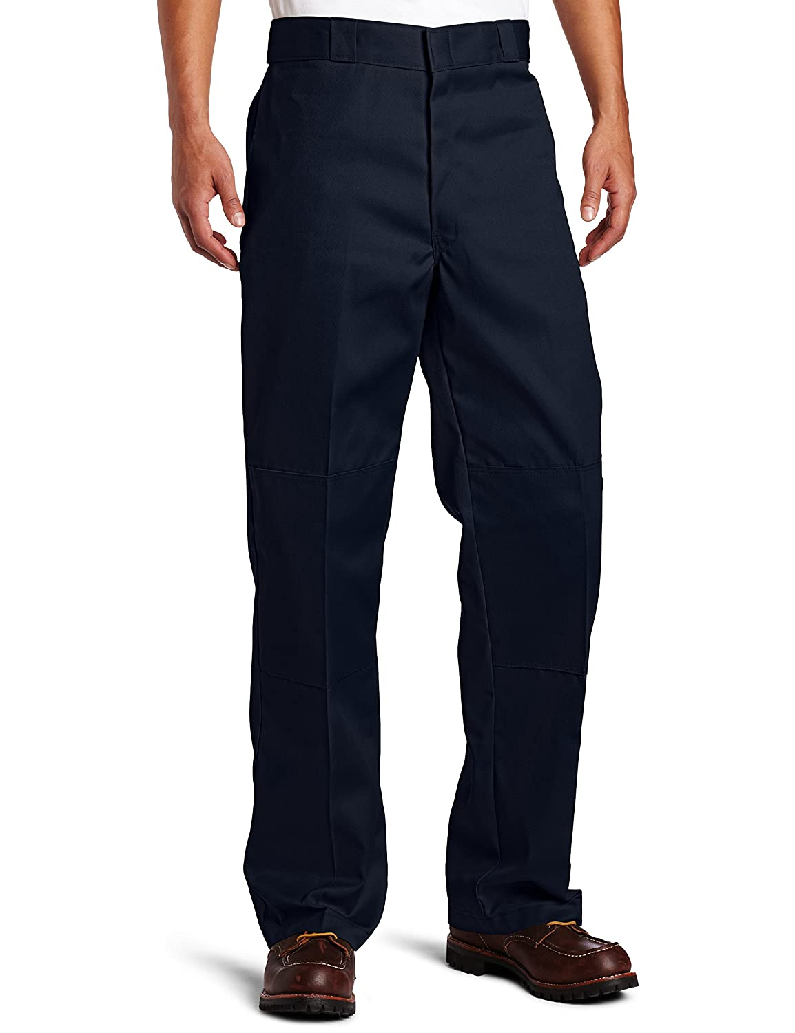 Bleu (Dark Navy) 32W   30L Dickies Double Knee Work Pantalon Homme