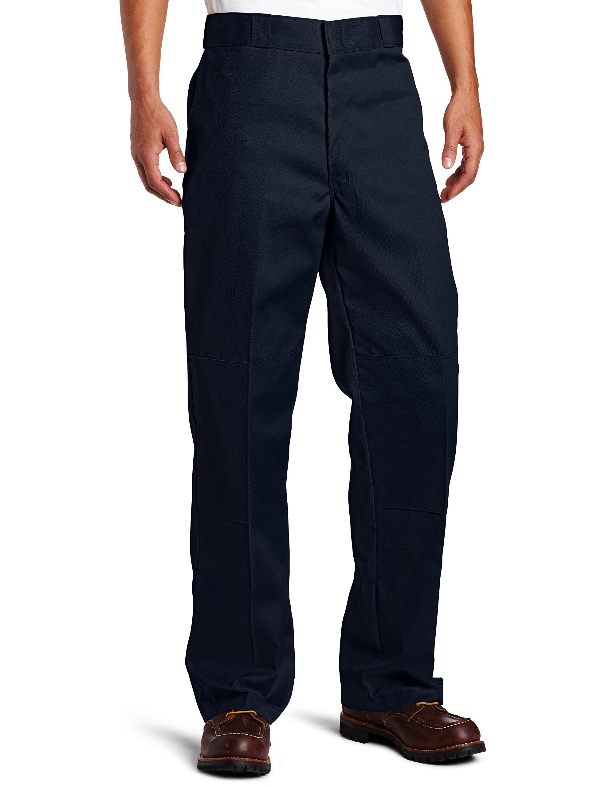 Dickies Men's Loose Fit Double Knee Twill Work Pant, Dark Navy, 40W x 30L