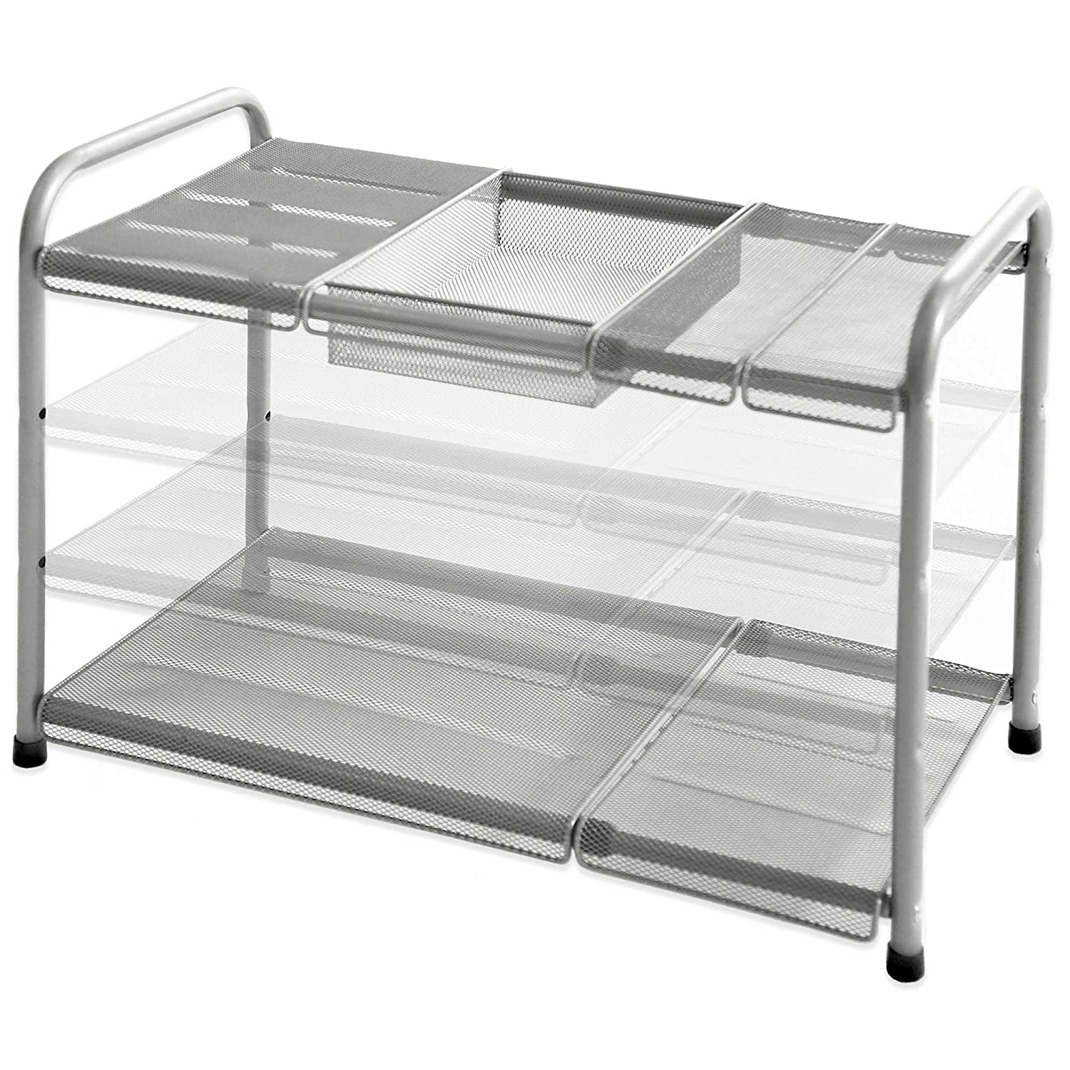 2 tier mesh expandable under sink shelf cell