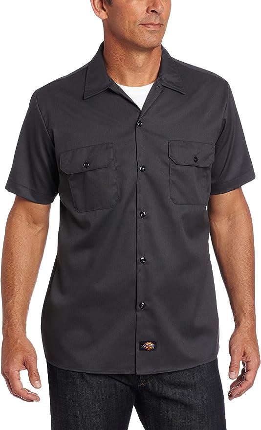 TALLA S. Dickies Short Sleeve Slim Work Shirt Camisa para Hombre
